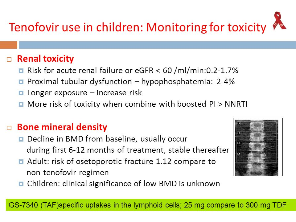 Tenofovir use in children: Monitoring for toxicity