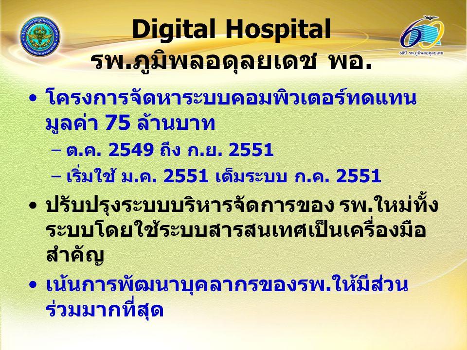 Digital Hospital รพ.ภูมิพลอดุลยเดช พอ.
