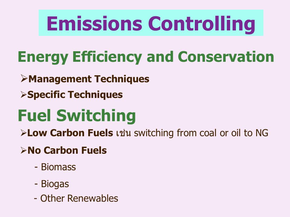 Emissions Controlling