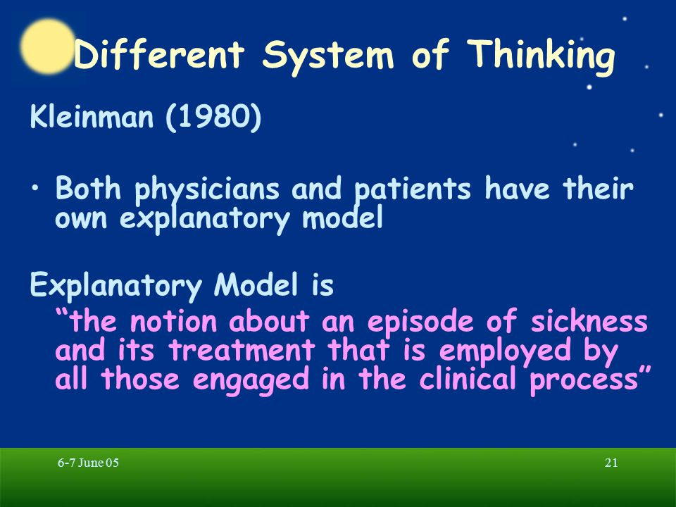 Different System of Thinking