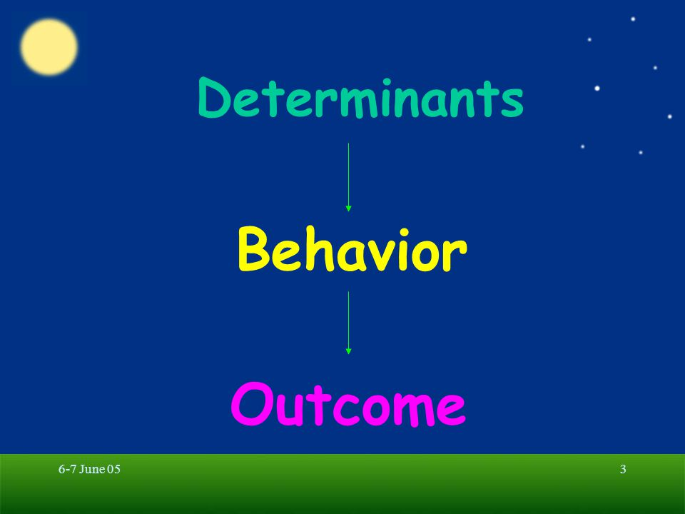 Behavior Outcome Determinants