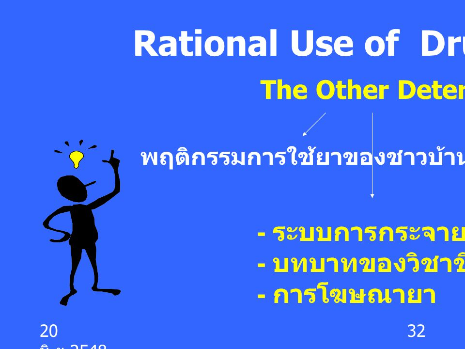 Rational Use of Drug The Other Determinants - ระบบการกระจายยา