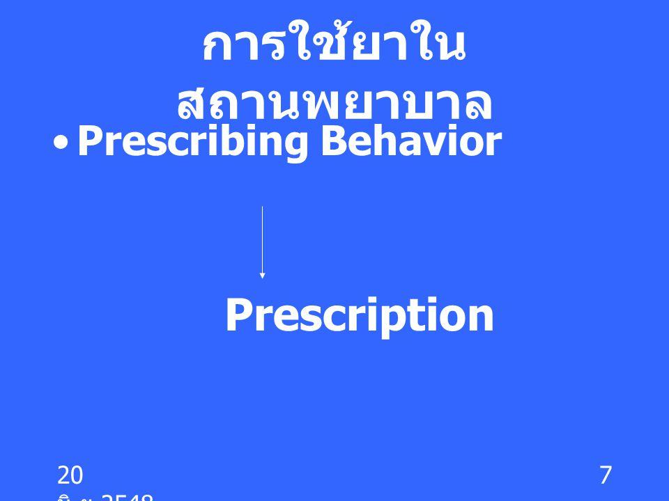 การใช้ยาในสถานพยาบาล