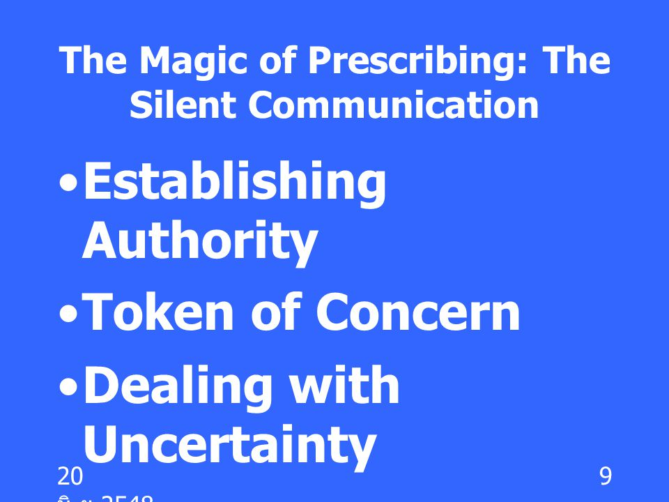 The Magic of Prescribing: The Silent Communication