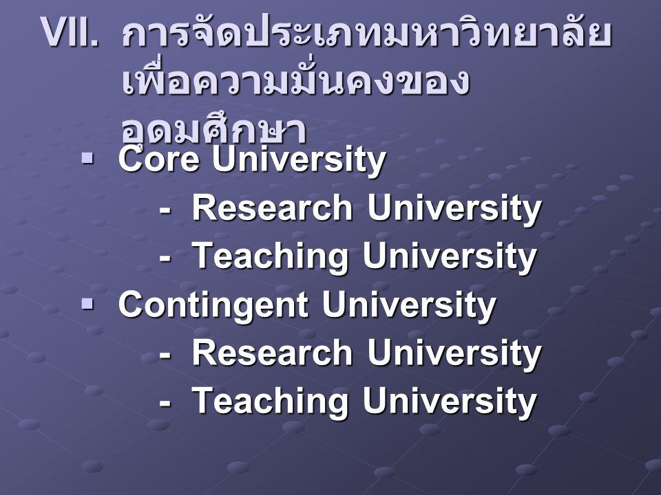 การจัดประเภทมหาวิทยาลัยเพื่อความมั่นคงของอุดมศึกษา
