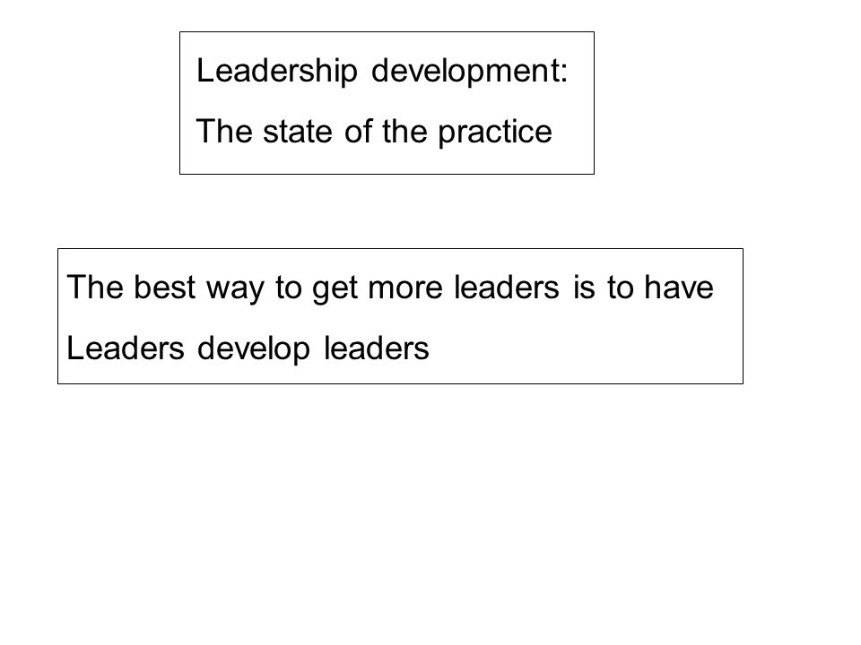 Leadership development: