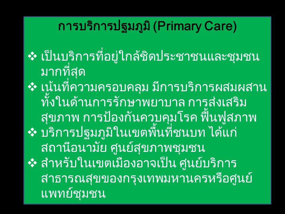 การบริการปฐมภูมิ (Primary Care)