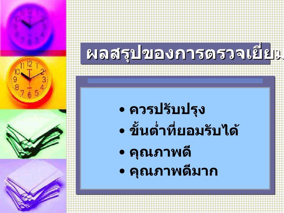 ผลสรุปของการตรวจเยี่ยม ( 3-4 ระดับ)