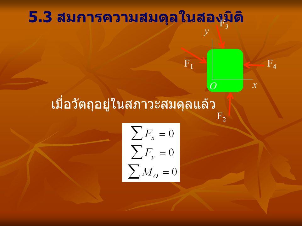 5.3 สมการความสมดุลในสองมิติ