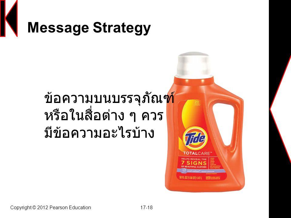 Message Strategy ข้อความบนบรรจุภัณฑ์ หรือในสื่อต่าง ๆ ควร