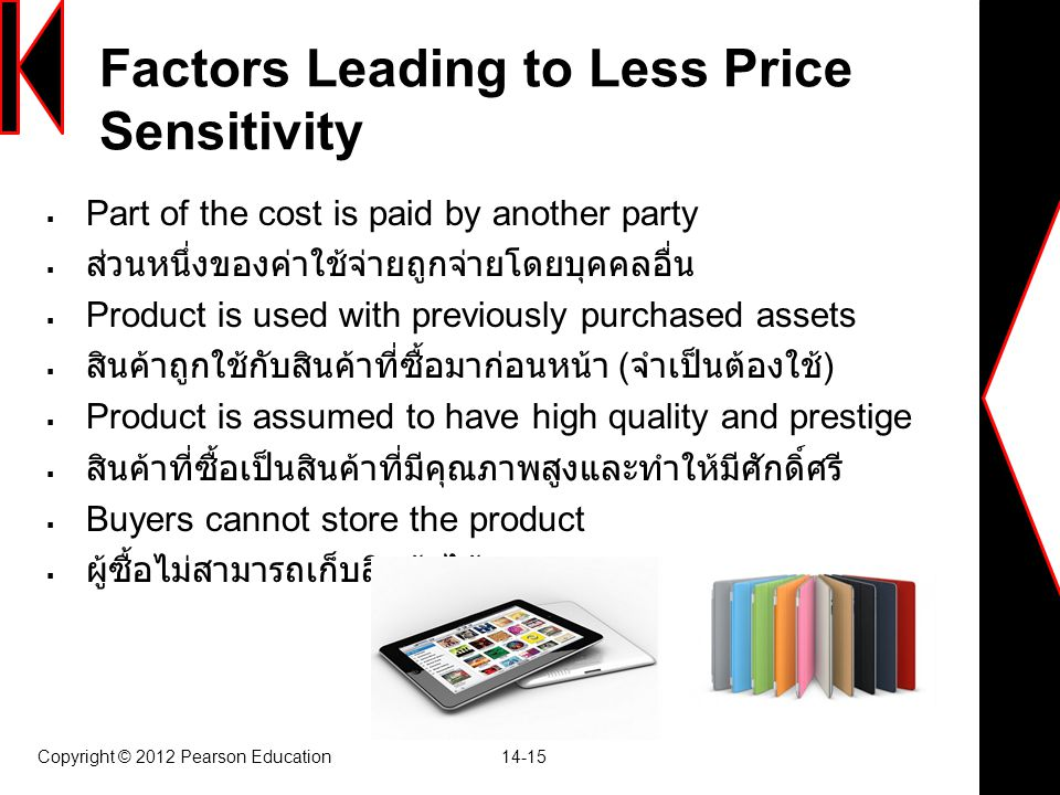 Factors Leading to Less Price Sensitivity