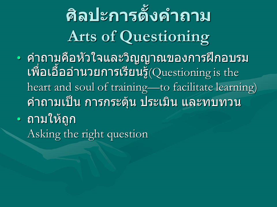 ศิลปะการตั้งคำถาม Arts of Questioning