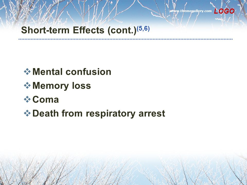 Short-term Effects (cont.)(5,6)
