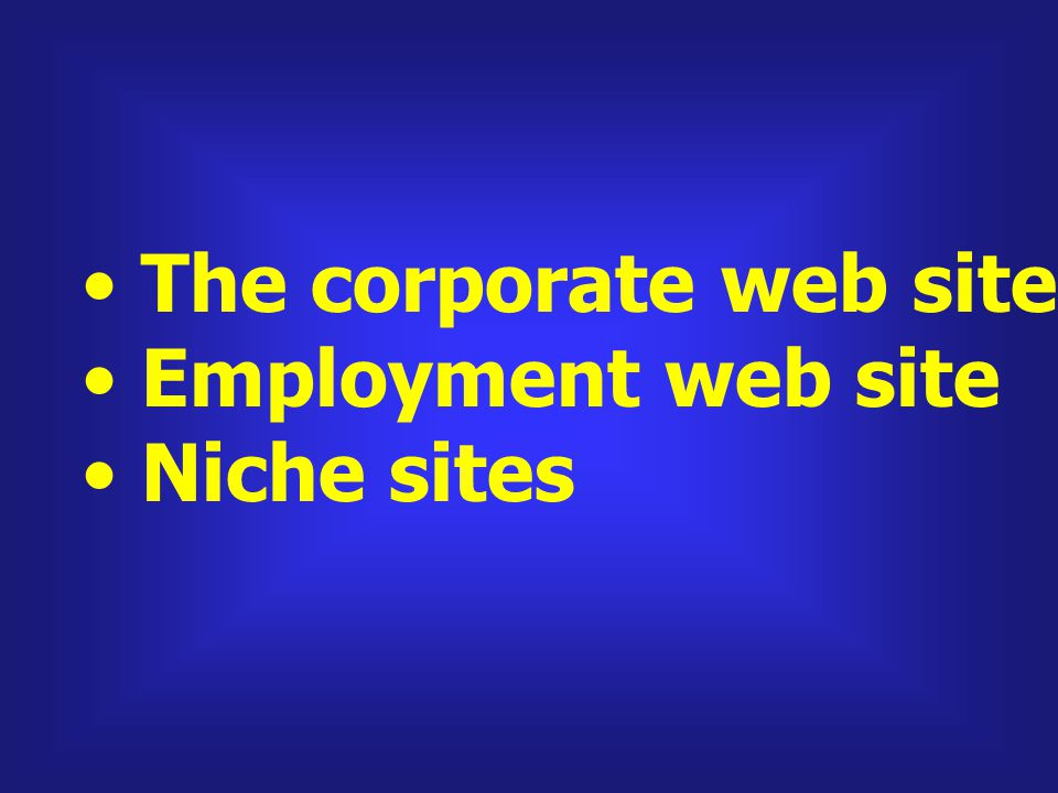 The corporate web site and homepage