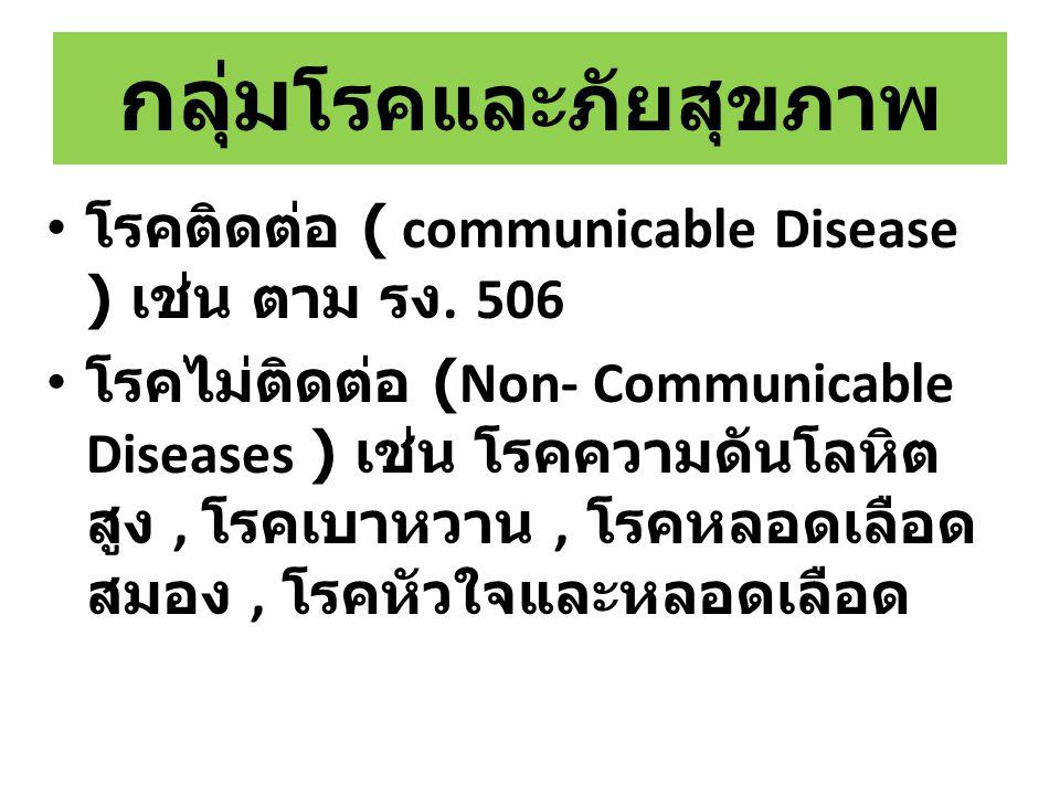 กลุ่มโรคและภัยสุขภาพ