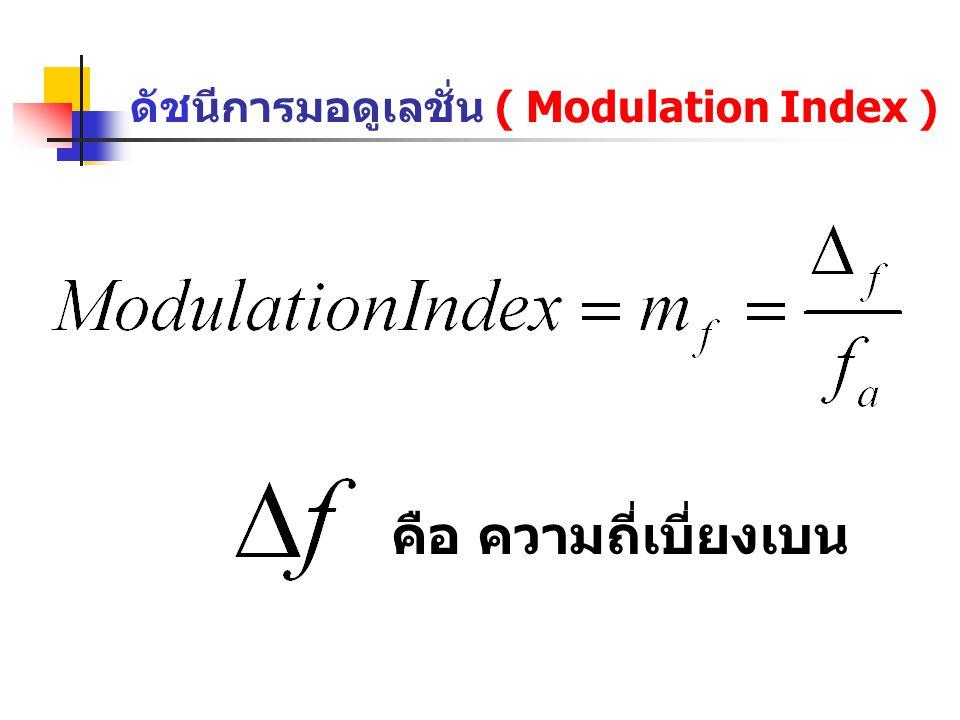 ดัชนีการมอดูเลชั่น ( Modulation Index )