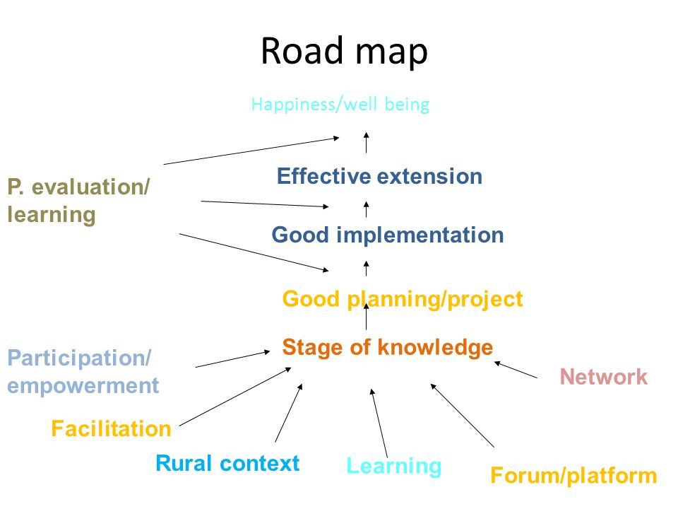 Road map Effective extension P. evaluation/ learning