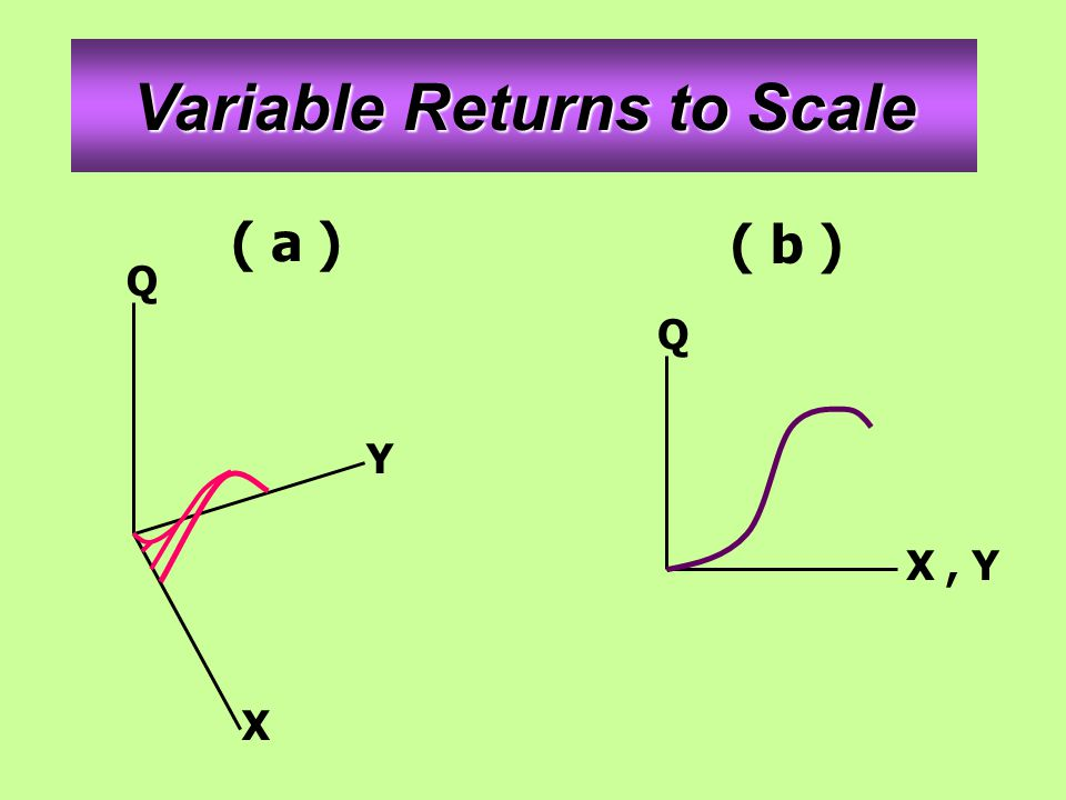 Variable Returns to Scale