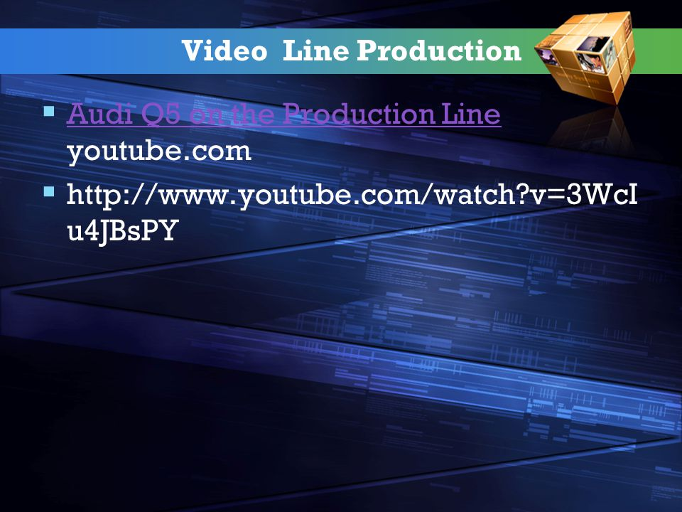 Video Line Production Audi Q5 on the Production Line youtube.com.