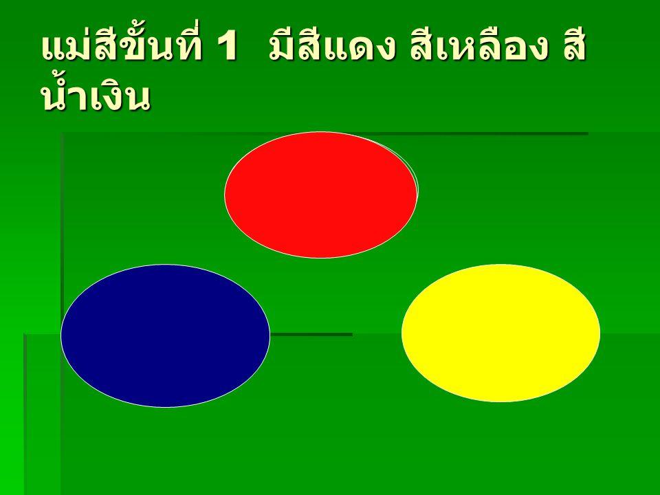 แม่สีขั้นที่ 1 มีสีแดง สีเหลือง สีน้ำเงิน