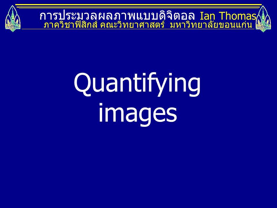 Quantifying images การประมวลผลภาพแบบดิจิตอล Ian Thomas