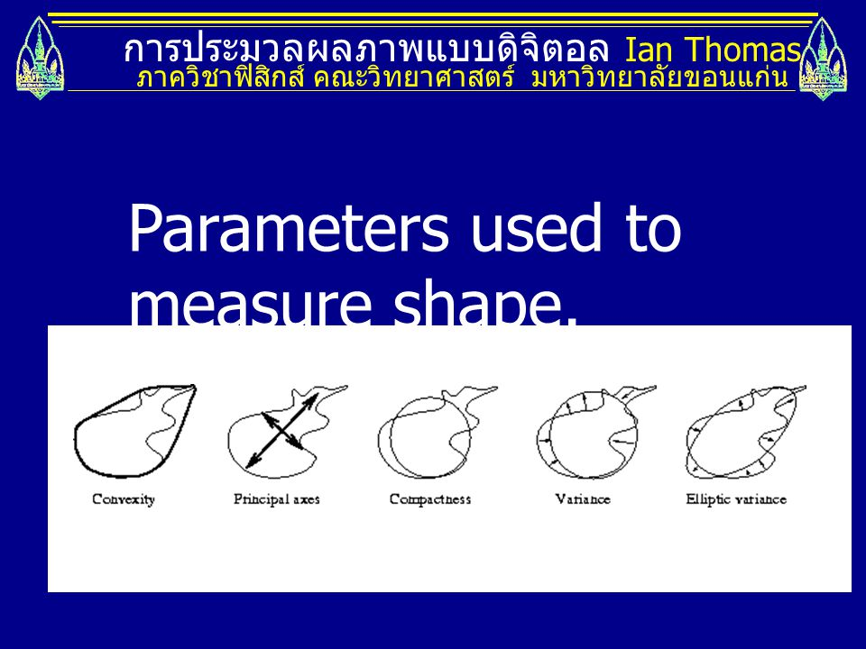 Parameters used to measure shape.