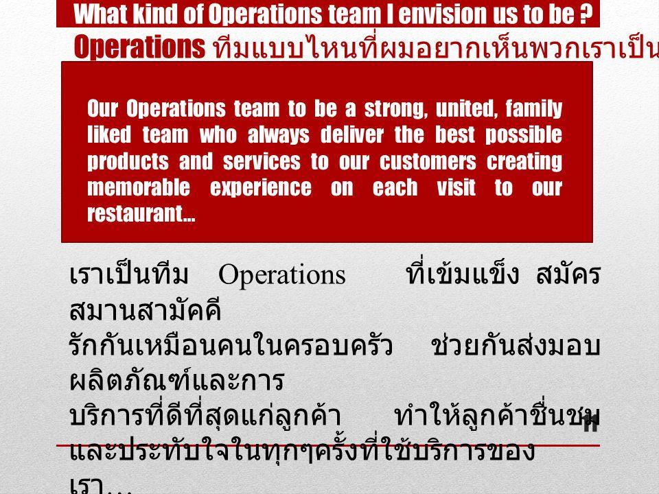 Operations ทีมแบบไหนที่ผมอยากเห็นพวกเราเป็น