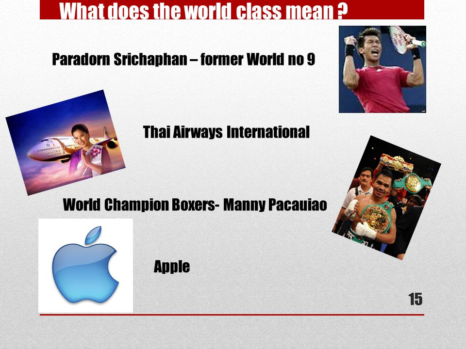 What does the world class mean