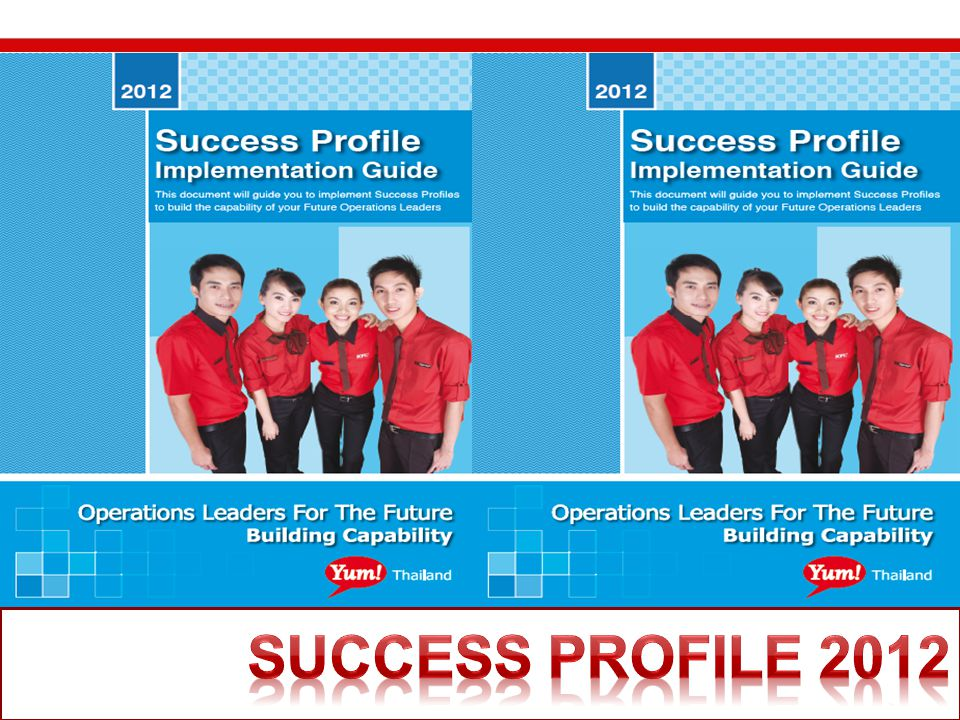 Change pic to the cover Success Profile 2012 Success Profile 2012