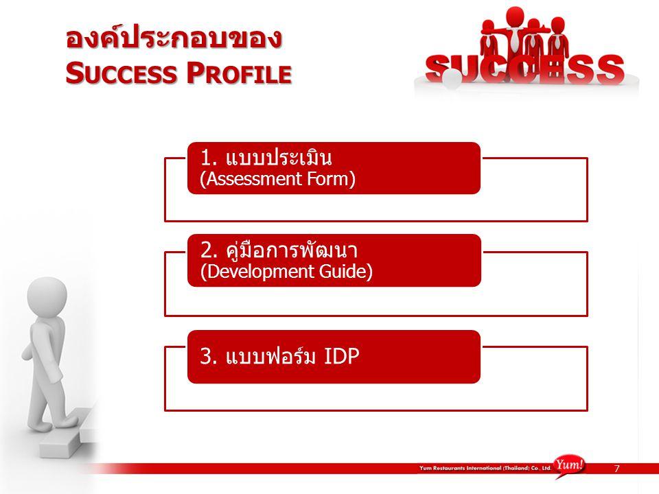 องค์ประกอบของ Success Profile