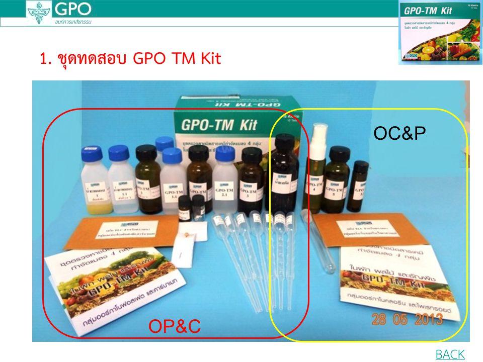 1. ชุดทดสอบ GPO TM Kit OC&P OP&C BACK
