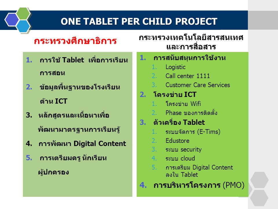 ONE TABLET PER CHILD PROJECT