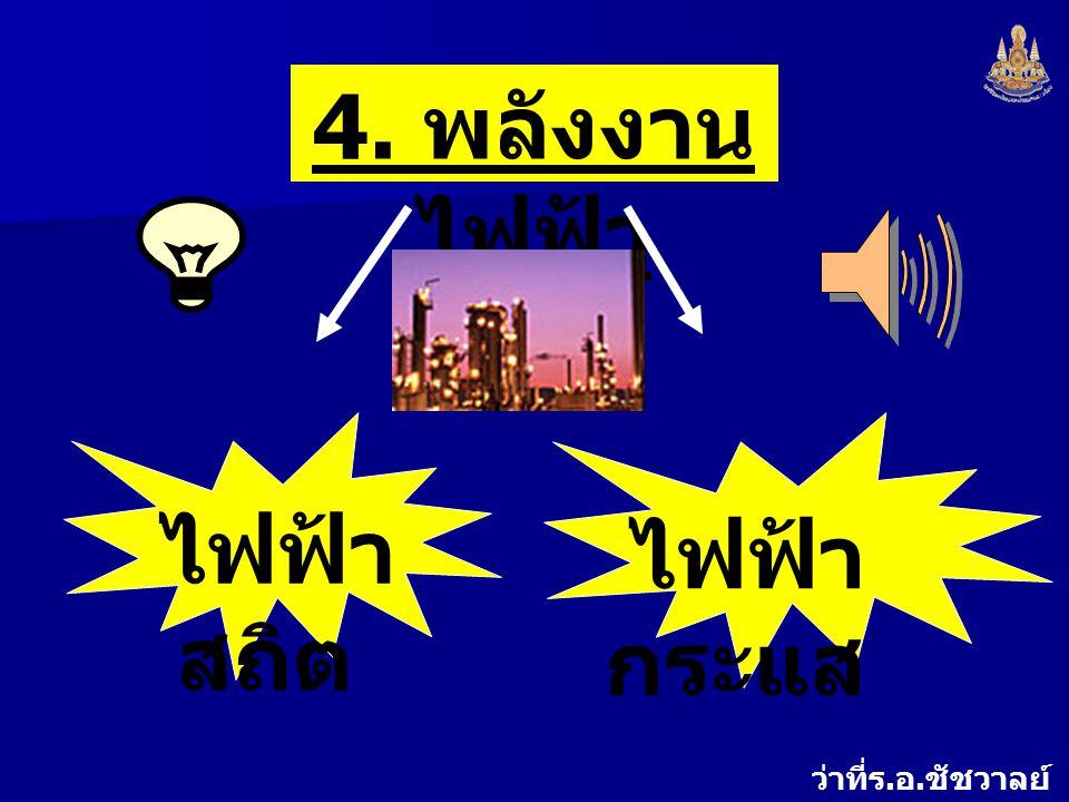 4. พลังงานไฟฟ้า ไฟฟ้าสถิต ไฟฟ้ากระแส