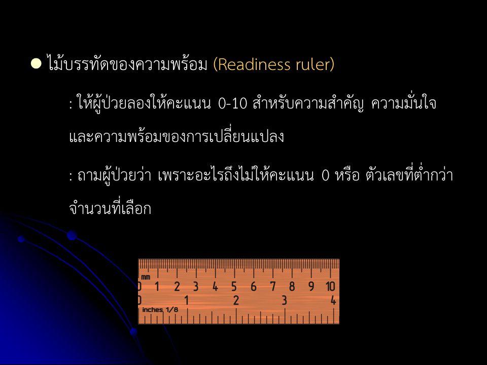 ไม้บรรทัดของความพร้อม (Readiness ruler)