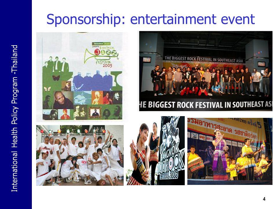 Sponsorship: entertainment event