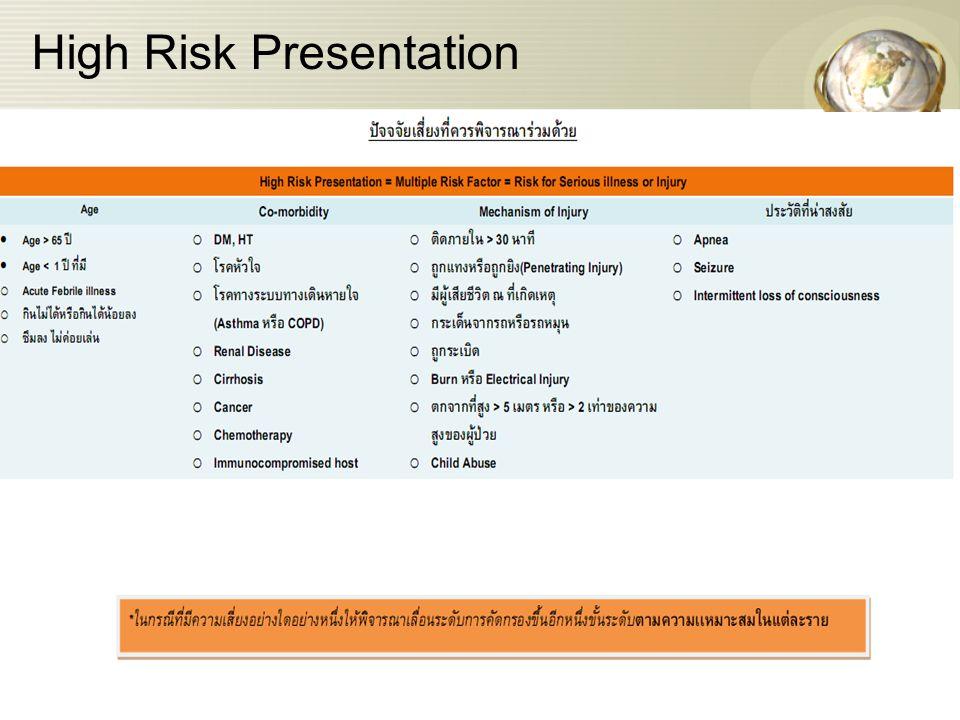 High Risk Presentation