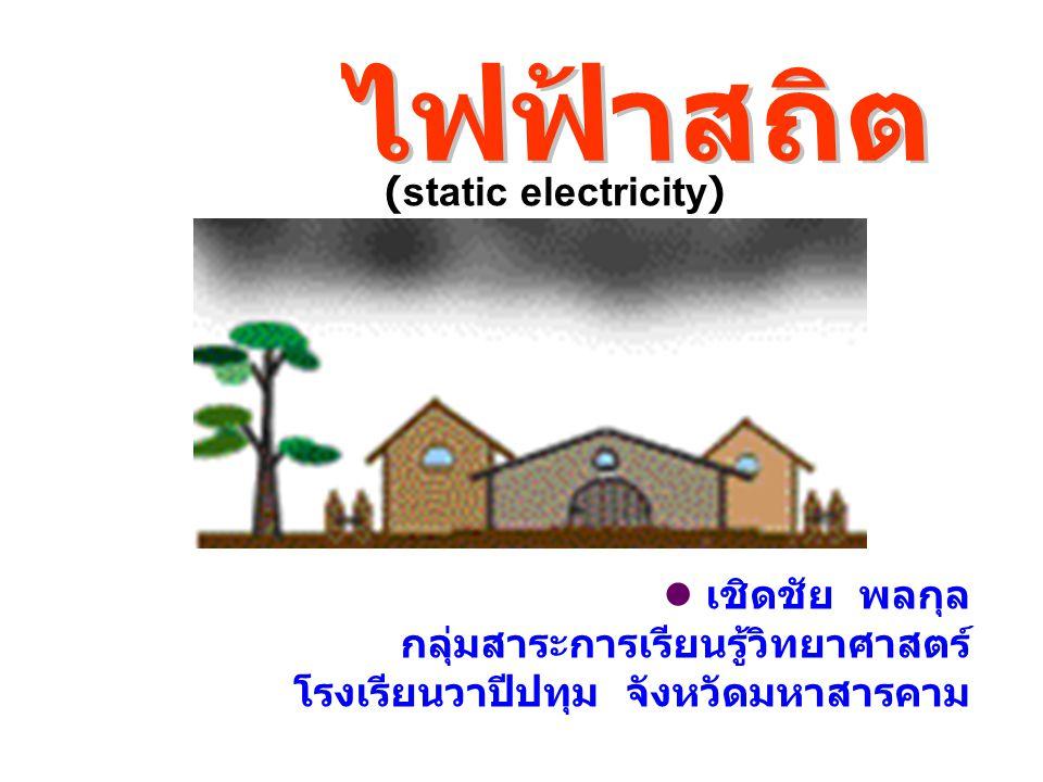 ไฟฟ้าสถิต (static electricity)