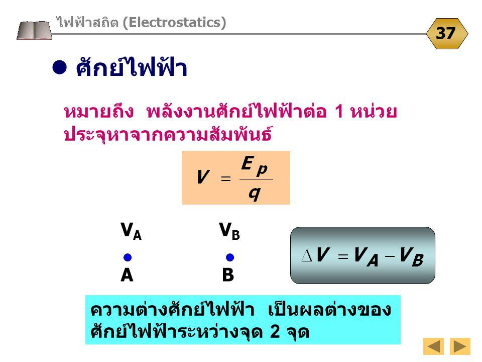 ไฟฟ้าสถิต (Electrostatics)