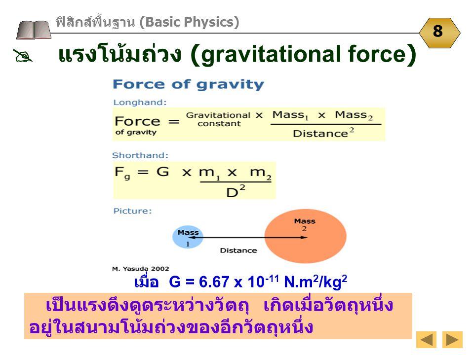  แรงโน้มถ่วง (gravitational force)