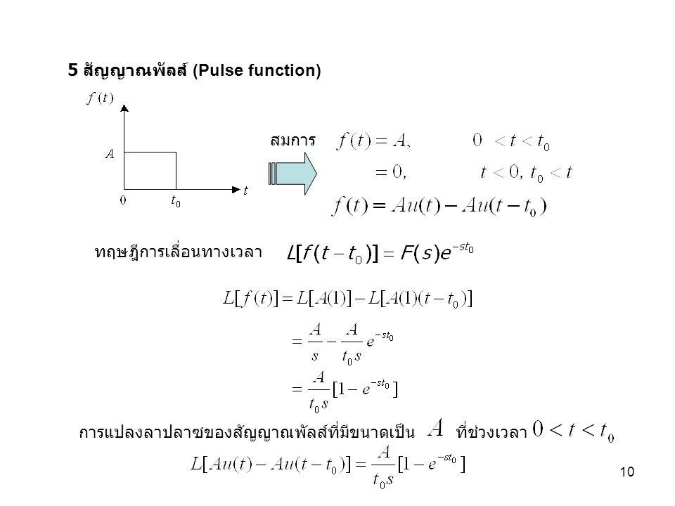 5 สัญญาณพัลส์ (Pulse function)