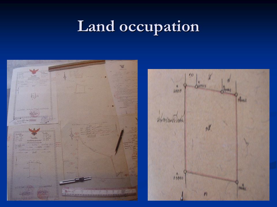 Land occupation
