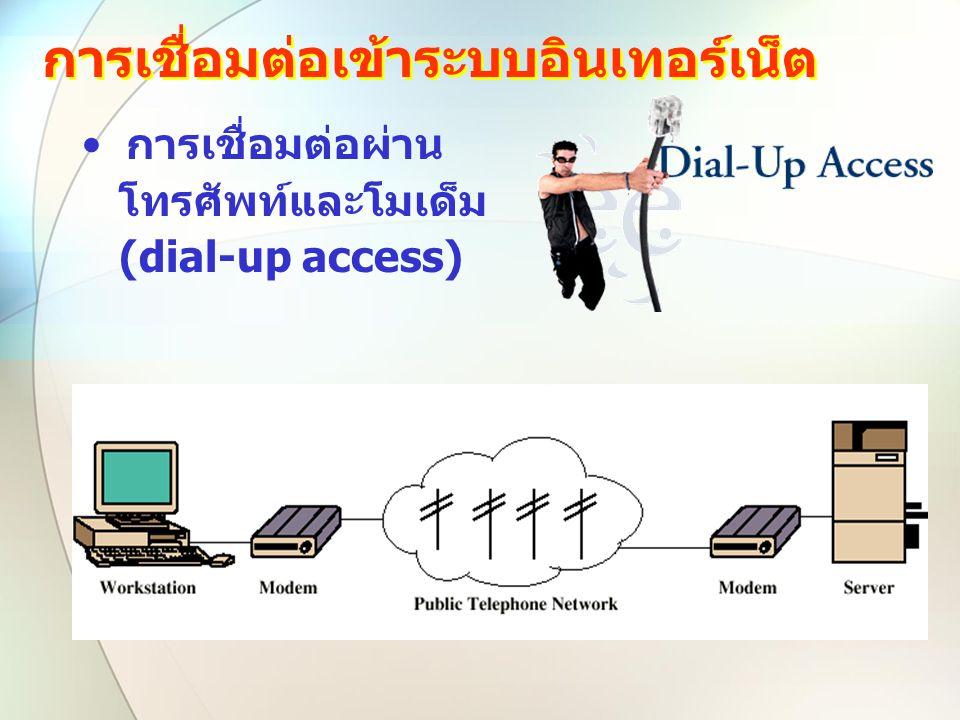 การเชื่อมต่อเข้าระบบอินเทอร์เน็ต