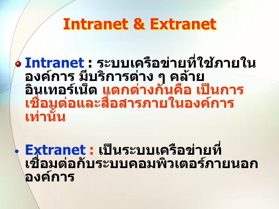 Intranet & Extranet