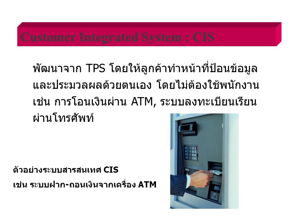 Customer Integrated System : CIS
