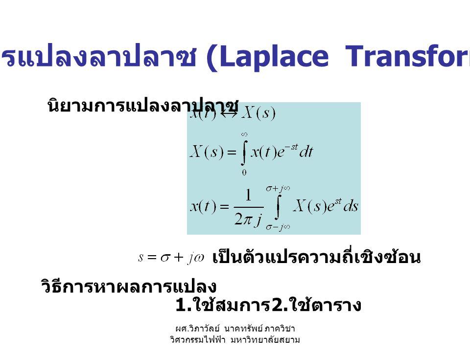 การแปลงลาปลาซ (Laplace Transform)