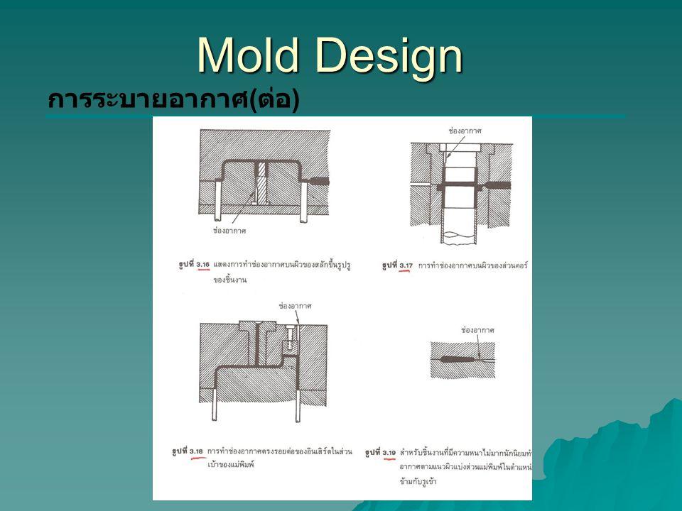 Mold Design การระบายอากาศ(ต่อ)