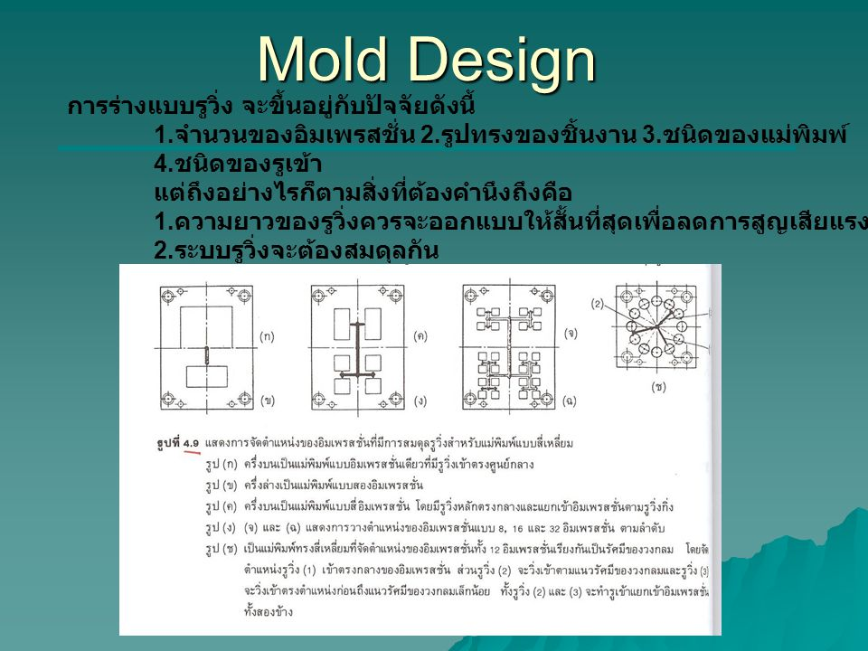 Mold Design **add รูปที่4.9 หน้า114