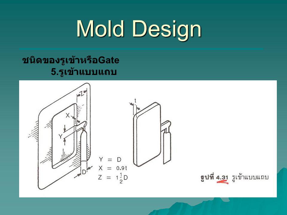 Mold Design ชนิดของรูเข้าหรือGate 5.รูเข้าแบบแถบ