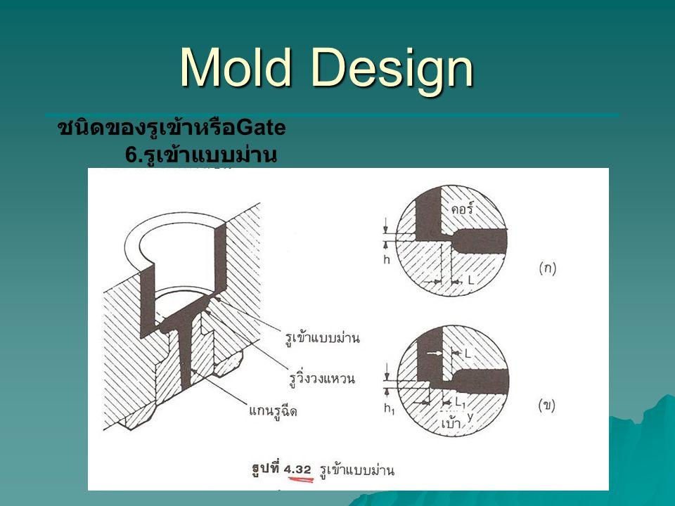 Mold Design ชนิดของรูเข้าหรือGate 6.รูเข้าแบบม่าน