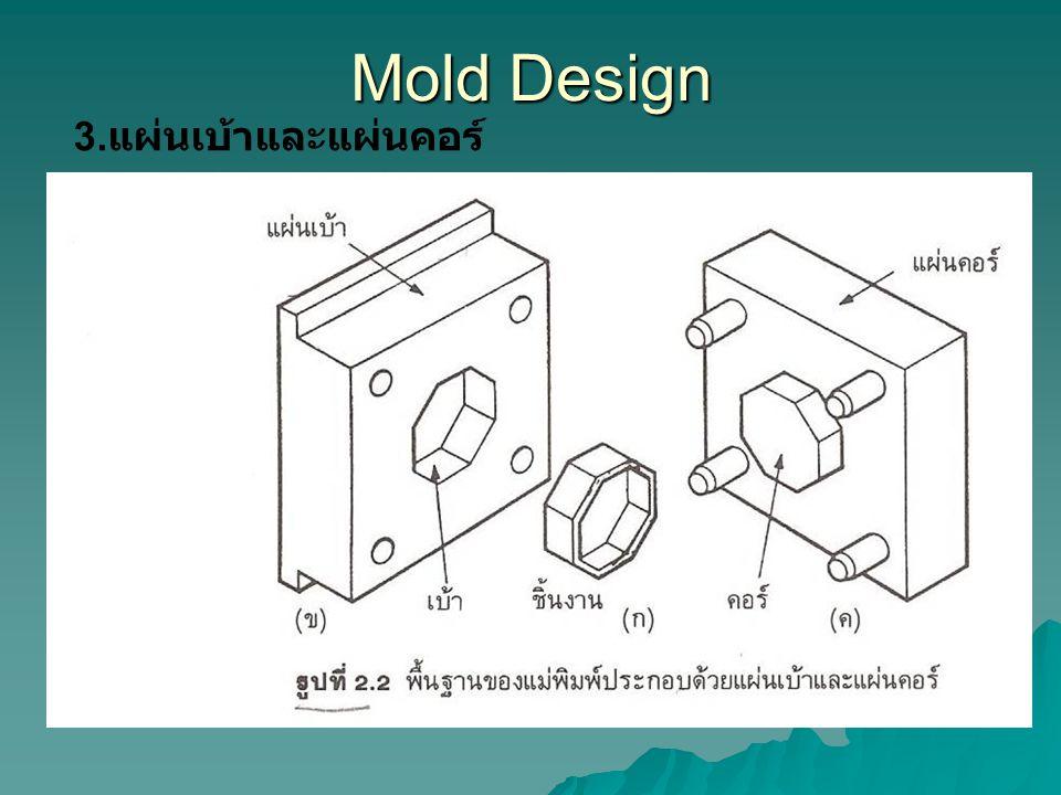Mold Design 3.แผ่นเบ้าและแผ่นคอร์